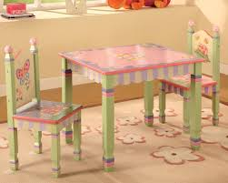 Step 2 Traditions Table Chair Set Childs Magic Garden Table Chairs Set In Green And Pink Finished