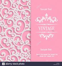3d Invitation Card Vector Swirl Pink 3d Valentines Or Wedding Invitation Cards Stock