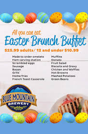 Easter Brunch Buffet by Easter Brunch Buffet U2013 Blue Mountain Brewery
