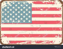 The Amarican Flag Vintage Style Tin Sign American Flag Stock Vector 103993157
