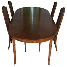 Vintage Henredon Bedroom Furniture Henredon Faux Bamboo Dining Set Faux Bamboo And Bamboo Table