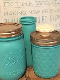 hand painted mason jar with knob lid baby shower gift party