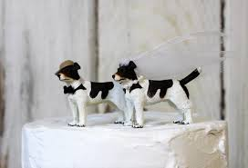 cake topper with dog wedding cake topper dog cake topper grooms cake