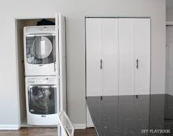 Diy Clothes Dryer New Diy Doors For Our Small Laundry Room Closet