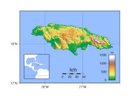 jamaica physical map large physical map of jamaica jamaica america mapsland