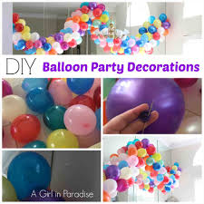 simple birthday balloon decoration at home ash999 info