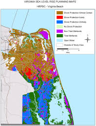 A Map Of Virginia by Sea Level Rise Planning Maps Likelihood Of Shore Protection In