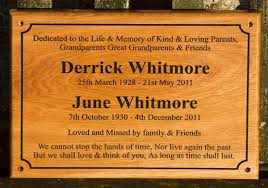 memorial plaques wooden memorial plaques signs image included the sign maker
