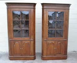 Wood Furniture Door Corner Cabinet With Glass Doors Homesfeed