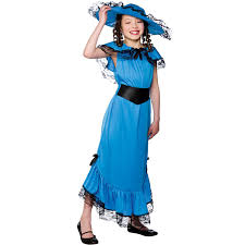Halloween Costumes Girls Kids Amazon Girls Blue Victorian Lady Costume Fancy Dress Party