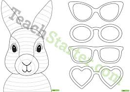 funky easter bunny craft template teaching resource u2013 teach starter