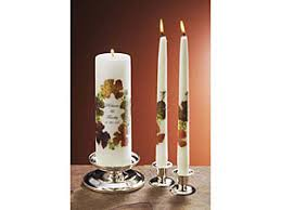 unity blossoms personalized unity candle set autumn tones