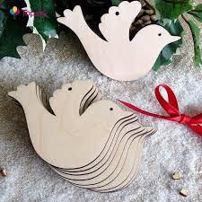 10pcs lot wooden peace dove wood slices discs wedding