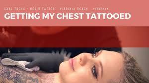 getting my chest tattooed red 5 tattoo virginia beach va youtube