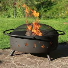 Firepit Images Sunnydaze 42 Inch Large Pit With Spark Screen