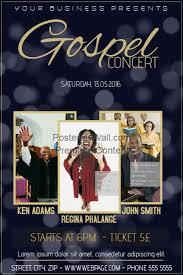 gospel concert church event flyer template postermywall