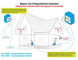 mytee 5004 electrical converter 230 volt 4 prong wire 30 amp to