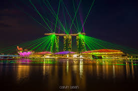 Bay Bridge Light Show Marina Bay Sands One Fullerton U2013 Lights Matters Calvin Seah