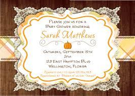 design fall baby shower invitations