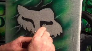 fox motocross logo airbrushing fox racing logo in minutes quick and easy for