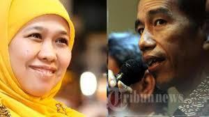 profil jokowi dan jk khofifah effect diharap mendongkrak suara jokowi jk tribunnews com