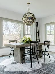 Windsor Dining Room Chairs Concrete Dining Table With Black Windsor Dining Chairs