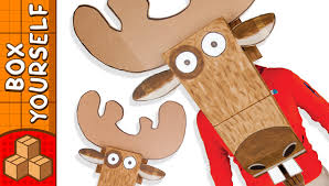 cardboard moose head crafts ideas for kids diy home decor on