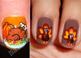 thanksgivin nails turkey thumbs stylefrizz photo gallery