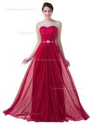 buy uk elegant red chiffon floor length long bridesmaid dress
