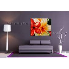 stunning contemporary wall art floral painting egg flower on canvas large floral art