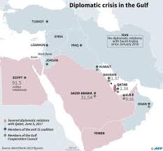 Current Map Of Middle East by Gulf Crisis 7 Countries Cut Off Ties With Qatar 7 Lakh Indians