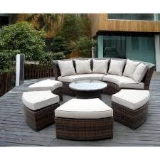 genuine ohana outdoor patio wicker furniture 7pc all weather round