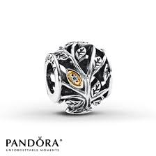 pandora family tree charm clear cz sterling silver 14k gold my