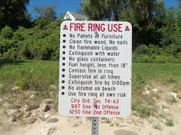 Beach Fire Pit by Beach Fire Pits Likely To Be Removed For Safety
