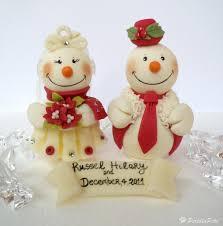 snowman wedding cake topper personalized custom cake topper