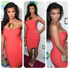 kim kardashian herve leger bandage dress dash miami opening