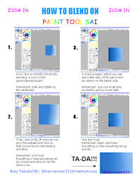 how to blend on paint tool sai by silver moon123 on deviantart