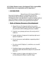 hr objective in resume q 1 define human resource development roles responsibility and q 1 define human resource development roles responsibility and functions in employee benefits turnover employment