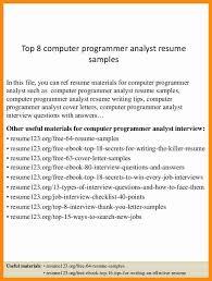 analyst programmer resume analyst programmer resume samples