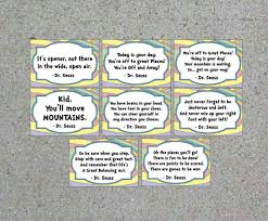 oh the places you ll go party dr seuss oh the places you ll go printable quote cards