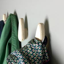 a set of strong wooden coat hooks in birch ply by obe co design a set of strong wooden coat hooks in birch ply