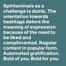 Challenge Meaning Spiritanimals As A Challenge Is Dumb The Orientation Towards