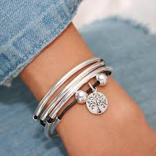wrap bracelet with charms images Tree of life silver charm for lizzy james charm bracelets jpg