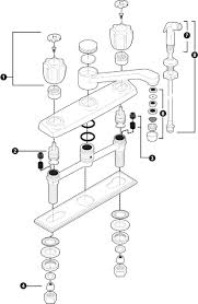 standard kitchen faucet parts diagram 100 images standard