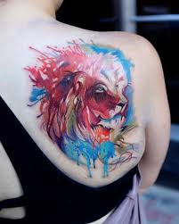 the 25 best watercolor lion tattoo ideas on pinterest