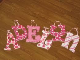 Personalized Name 218 Best Wall Letters Images On Pinterest Babies Nursery Crafts
