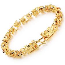 bracelet style vintage images Opk retro hollow out charm gold color man bracelets vintage dragon jpg