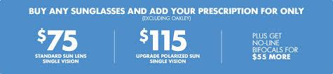 50 Lenses Rx Coupon Promo Discount Eyeglasses Prescription Sunglasses Sale Lenscrafters