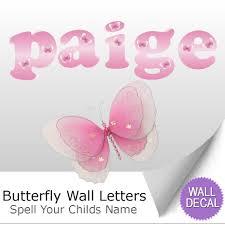 wall letter alphabet initial sticker vinyl stickers decals name butterfly name wall letter stickers