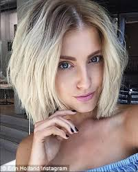 shaggy bob hairstyles 2015 erin holland shows off her new shaggy bob hairstyle in instagram